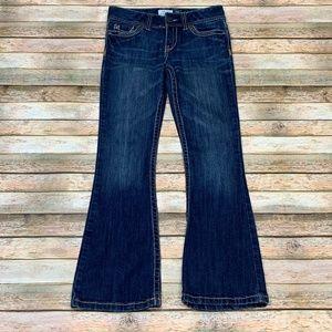 Aeropostale Hailey Skinny Flare Jeans Flap Pockets
